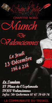 181213 – Chapitre Nord – Jeudi 13 Décembre 2018 – 19h – 1er Munch de Valenciennes – Une taverne à Valenciennes