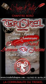 190126 – Chapitre Nord – Samedi 26 Janvier 2019 – 21h – Soirée anniversaire – Le Triskel Donjon
