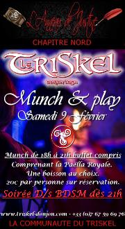 190209 – Chapitre Nord – Samedi 9 Février 2019 – Munch & Play – Le Triskel Donjon