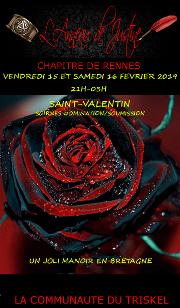190215 – Chapitre de Rennes – Vendredi 15 et Samedi 16 Février 2019 – 21h – St Valentin – Un Manoir en Bretagne