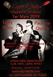 190301 – Chapitre d'Occitanie – Vendredi 1er Mars 2019 – 14h : Le Boudoir des soumis – 21h : Instant Cordial – Le Privé – 34110 FRONTIGNAN