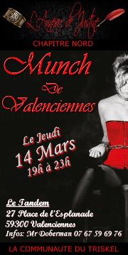 190314 – Chapitre Nord – Jeudi 14 Mars 2019 – 19h – Munch de Valenciennes 4 – Le Tandem à Valenciennes