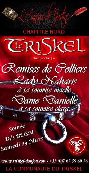 190323 – Chapitre Nord – Samedi 23 Mars 2019 – 21h – Soirée Remises de colliers – Le Triskel Donjon