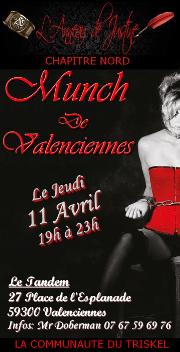 190411 – Chapitre Nord – Jeudi 11 Avril 2019 – 19h – 5ème Munch de Valenciennes – Le Tandem