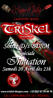 190420 – Chapitre Nord – Samedi 20 Avril 2019 – 21h – Soirée Initiation – Le Triskel Donjon