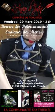 190329 – Chapitre de Toulouse – Vendredi 29 Mars 2019 – 21h – Soirée BDSM – La Matronne – 31830 – Plaisance-du-Touch