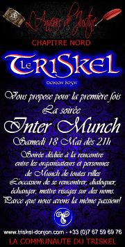190518 – Chapitre Nord – Samedi 18 Mai 2019 – 21h – Soirée Inter-Munch – Le Triskel Donjon