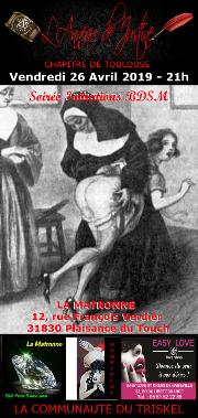 190426 – Chapitre de Toulouse – Vendredi 26 Avril 2019 – 21h – Soirée Initiation – La Matronne – 31830 Plaisance du Touch