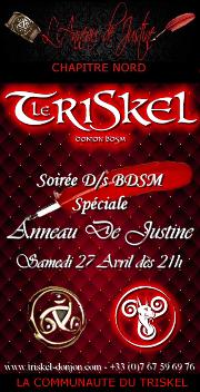 190427 – Chapitre Nord – Samedi 27 Avril 2019 – 21h – Soirée ADJ – Le Triskel Donjon