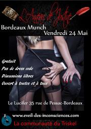 190524 – Chapitre de Bordeaux – Vendredi 24 Mai 2019 – 21h – Open Munch – Le Lucifer 33000 Bordeaux