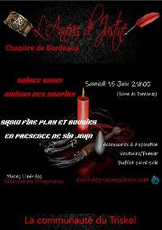 190615 – Chapitre de Bordeaux – Samedi 15 Juin 2019 – 21h – Soirée BDSM – Maison des Soupirs