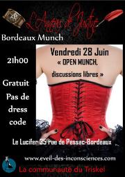 190628 – Chapitre de Bordeaux – Vendredi 28 juin 2019 – 21h – Open Munch – Le Lucifer 33000 Bordeaux