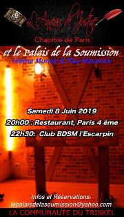 190608 – Chapitre de Paris – Samedi 8 Juin 2019 – 20h – Munch & Play Maverick – Un restaurant dans le 18h, puis à l'Escarpin 75000 PARIS