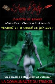 190614 – Chapitre de Rennes – Vendredi 14 et Samedi 15 Juin 2019 – Chasse à la renarde et Soirées D/s – Entre BREST et QUIMPER