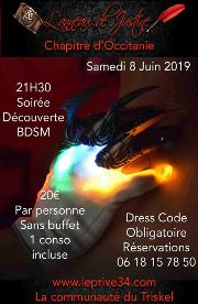 190608 – Chapitre d'Occitanie – Samedi 8 Juin 2019 – 21h – Soirée Découverte BDSM – Le Privé 34110 FRONTIGNAN