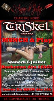 190706 – Chapitre Nord – Samedi 6 Juillet 2019 – Munch & Play et Soirée D/s BDSM – Le Triskel Donjon