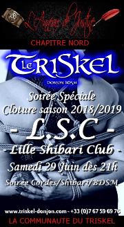 190629 – Chapitre Nord – Samedi 29 Juin 2019 – 21h – Soirée de Cloture de la saison du L.S.C. – Le Triskel Donjon