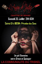 190720 – Chapitre de Rennes – Samedi 20 Juillet 2019 – 21h – Soirée Privation des Sens – Entre Brest et Quimper (29)