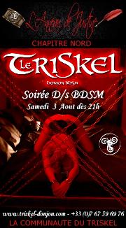 190803 – Chapitre Nord – Samedi 3 Août 2019 – 21h – Soirée D/s BDSM – Le Triskel Donjon