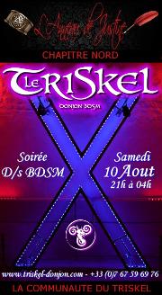 190810 – Chapitre Nord – Samdi 10 Août 2019 – 21h – Doirée D/s & BDSM – Le Triskel Donjon