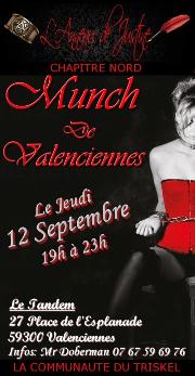 190912 – Chapitre Nord – Jeudi 12 Septembre 2019 – 19h – Munch N°10 – Le Tandem – 59300 Valenciennes