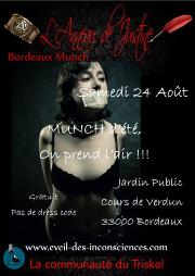 190824 – Chapitre de Bordeaux – Samedi 24 Aout 2019 – 16h – Open Munch – Jardin Public 33000 BORDEAUX