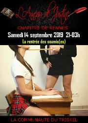 190914 – Chapitre de Rennes – Samedi 14 Septembre 2019 – 21h – La rentrée des soumis(es) – Un beau domaine entre Quimper et Brest
