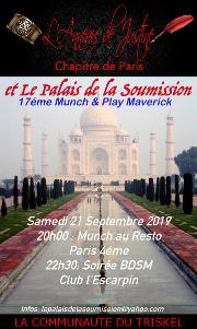 190921 – Chapitre de Paris – Samedi 21 Septembre 2019 – 20h – 17ème Munch & Play Maverick – 75004 PARIS
