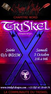 191005 – Chapitre Nord – Samedi 5 Octobre 2019 – 21h – Soirée D/s BDSM – Le Triskel Donjon