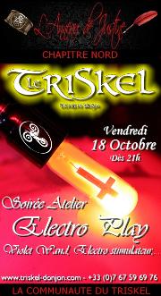 191018 – Chapitre Nord – Vendredi 18 Octobre 2019 – 21h – Atelier Electro Play – Le Triskel Donjon