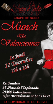 191212 – Chapitre Nord – Jeudi 12 Décembre 2019 – 19h – Munch – Le Tandem – Valenciennes