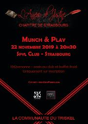 191122 – Chapitre de Strasbourg – Vendredi 22 Novembre 2019 – 20h30 – Munch & Play – Spyl Club – 67000 Strasbourg