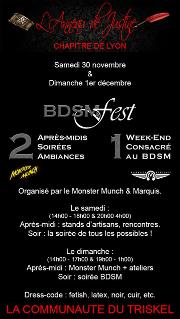 191130 – Chapitre de Lyon – Samedi 30 Novembre et Dimanche 1er Décembre 2019 – BDSM FEST – 69009 LYON