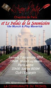 191207 – Chapitre de Paris – Samedi 7 Décembre 2019 – Munch & Play Maverick – Un restaurant, puis à l'Escarpin 75004