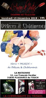 191213 – Chapitre de Toulouse – Vendredi 13 Décembre 2019 – 19h – Munch D&C – La Matronne – 31830 – Plaisance du Touch