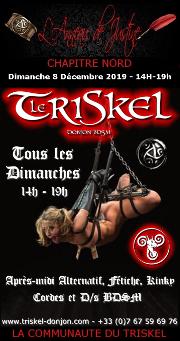 191208 – Chapitre Nord – Dimanche 8 Décembre 2019 – 14h-19h – Après Midi Kinky – Le Triskel Donjon