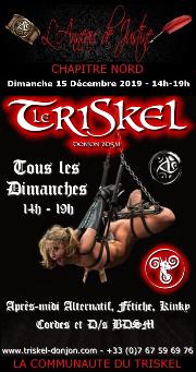 191215 – Chapitre Nord – Dimanche 15 Décembre 2019 – 14h-19h – Après midi Kinky – Le Triskel Donjon