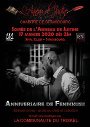 200117 – Chapitre se starsbourg – Vendredi 17 Janvier 2020 – 21h – Anniversaire de Fennikusu – Le Spyl Club – 67000 Strasbourg