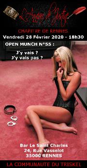 200221 – Chapitre de Rennes – Vendredi 21 Février 2020 – 18h30 – 55ème Munch – Bar Le Saint Charles 35000 RENNES