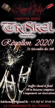 191231 – Chapitre Nord – Mardi 31 Décembre 2019 – 20h – Réveillon D/S BDSM – Le Triskel Donjon