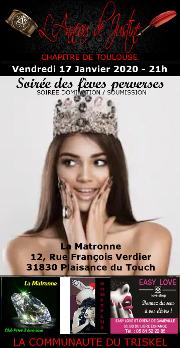 200117 – Chapitre de Toulouse – Vendredi 17 Janvier 2020 – 21h – Soirée BDSM – La Matronne – 31830 – Plaisance du Touch