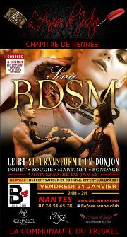 200131 – Chapitre de Rennes – Vendredi 31 Janvier 2020 – 21h – Soirée BDSM et Initiation – Before Sauna Club – 44980 Sainte-Luce